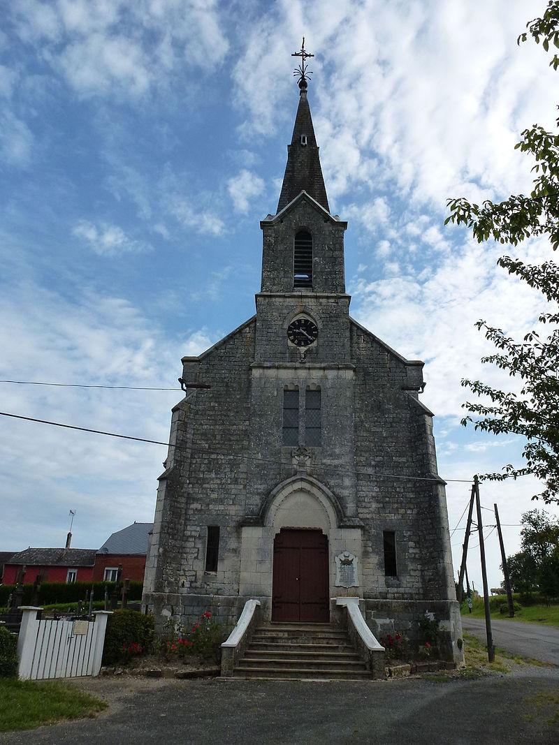 Maranwez (Ardennes) église, façade.JPG