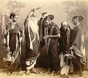 Marathi theatre - A Marathi theatrical group, Mumbai, 1870.