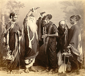 Marathi theatre - A Marathi theatrical group, Mumbai, 1870.