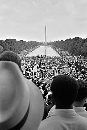 Washington, D.C. - Crowds surrounding the Reflecting Pool during the 1963 March on Washington