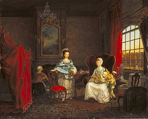 Interior of a House on the Dunne Bierkade, The Hague