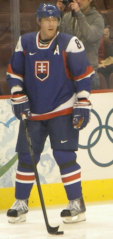 Marian Hossa at the 2010 Winter Olympics, where Slovakia finished fourth MarianHossa02172010.jpg