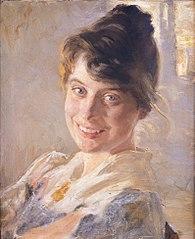 Portræt af kunstnerens hustru Marie