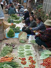 A street market in Luang Prabang.