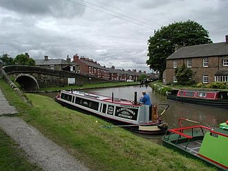 Marple, Greater Manchester - Junction of Peak Forest Canal and the Macclesfield Canal in Marple
