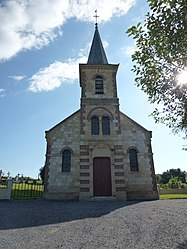 The church in Marquigny