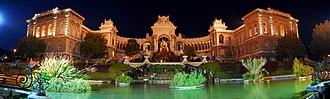 Palais Longchamp - The Palais Longchamp at night