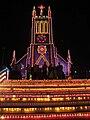 Marthandam CSI Church by night.jpg