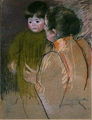 Woman Holding a Child