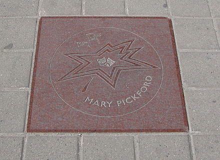 Pickford's star on the Walk of Fame in Toronto Mary Pickford star on Walk of Fame.jpg