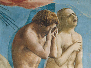 Expulsion from the Garden of Eden - Image: Masaccio The Expulsion from the Garden of Eden (detail) WGA14180