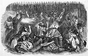 Fort Mims massacre - Image: Massacre at Fort Mims