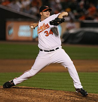 Matt Albers - Albers pitching for the Baltimore Orioles in 2009