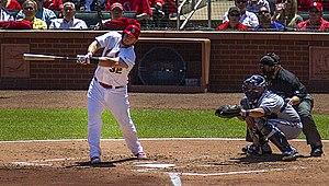 Matt Adams - Adams batting against Atlanta, 2014