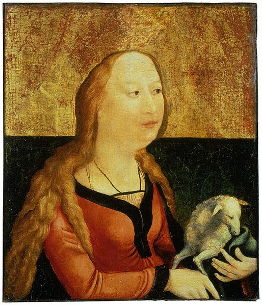 File:Matthias Gruenewald-Coburger  Tafel-Heilige Agnes.jpg