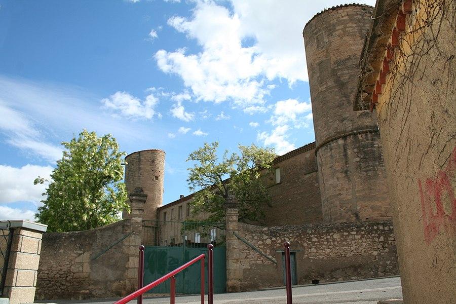 Maureilhan (Hérault) - château, façade ouest.