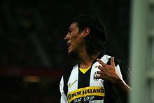 Camoranesi con la maglia della Juventus nel 2008
