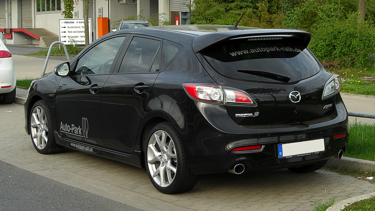 file mazda3 mps bl heckansicht 16 april 2011. Black Bedroom Furniture Sets. Home Design Ideas