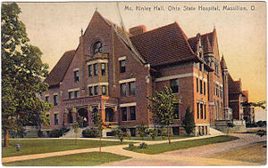 Massillon, Ohio - McKinley Hall, Ohio State Hospital, Massillon, Ohio (1915 Postcard)