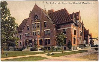 Massillon, Ohio - McKinley Hall, Ohio State Hospital, Massillon, Ohio (1915 Postcard)