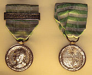 Medal of the First Madagascar expedition
