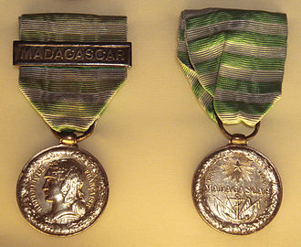 First Madagascar expedition - French Medal of the Madagascar expedition. Musée de la Légion d'Honneur.