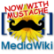 MediaWiki logo with a mustache.png