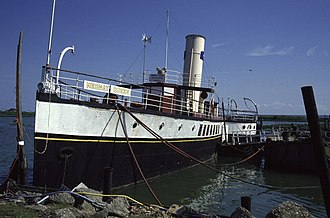 PS Medway Queen - In 1994, the PS Medway Queen in Damhead Creek, Kingsnorth.