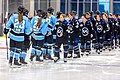Members of the Minnesota Whitecaps shake hands with members the Buffalo Beauts.jpg