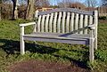 Memorial bench at Horseshoe Lake.JPG