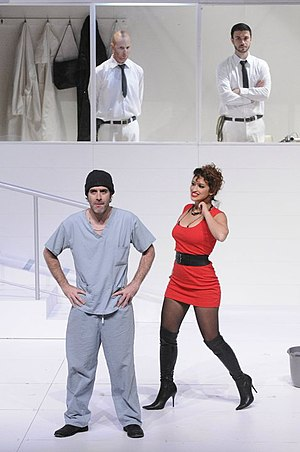 Zohar Strauss - Strauss (front, left) as McMurphy in One Flew Over the Cuckoo's Nest, 2012.