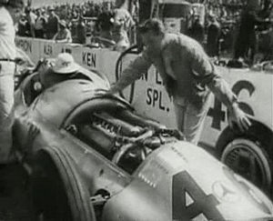 Indianapolis 500 - The Mercedes-Benz W154 entered by Don Lee at the 1947 Indianapolis 500 with Duke Nalon as driver