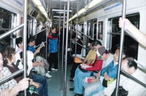 Mexico City Metro Line 2 - Inside a wagon on Line 2