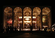 The Metropolitan Opera House at Lincoln Center for the Performing Arts, seen from Lincoln Center Plaza