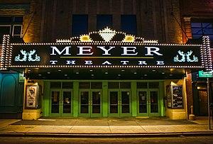 Meyer Theatre - Image: Meyer Theatre New Marquee