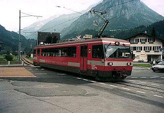 Oberhasli - Meiringen-Innertkirchen-Bahn in Innertkirchen.