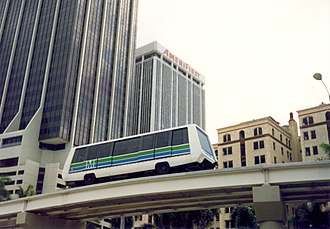 Metromover - An Adtranz C-100 Metromover train in its original livery
