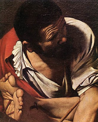 Crucifixion of Saint Peter (Caravaggio) - The Crucifixion of Saint Peter (detail)