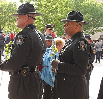 Michigan Department of Corrections - Michigan Department of Corrections Honor Guard at assembly before 27th Annual Candlelight Vigil at National Law Enforcement Officers Memorial in Washington, D.C.