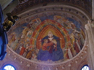 Ambrogio Bergognone - Fresco in the Basilica of San Simpliciano, Milan.