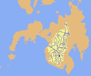 Rio Grande de Mindanao - Image: Mindanao river drainage map