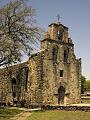 """Mission San Francisco de la Espada, better known today simply as """"Mission Espada,"""" in San Antonio, Texas LCCN2014632660.tif"""