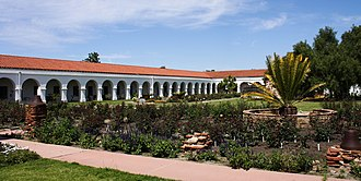Mission San Luis Rey de Francia - The courtyard of the mission
