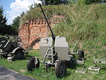 Model 1940 anti-aircraft gun at the Muzeum Polskiej Techniki Wojskowej in Warsaw (1).jpg