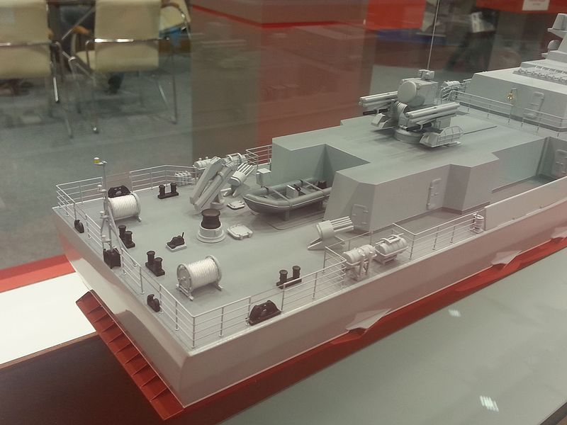 روسيا تعرض كورفيت Project 22800E Karakurt-class  مخصص للتصدير و بتجهيزات غربيه  800px-Model_corvette_project_22800_at_the_%C2%ABArmy_2016%C2%BB_2