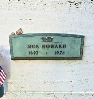 Crypt of Moe Howard, at Hillside Memorial Park Moe Howard Grave.JPG