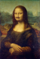 Mona Lisa, by Leonardo da Vinci, from C2RMF retouched reduced 50% with moustache and Beard.png
