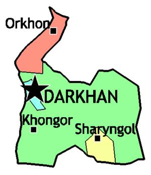 Darkhan-Uul Province - Sums of Darkhan-Uul