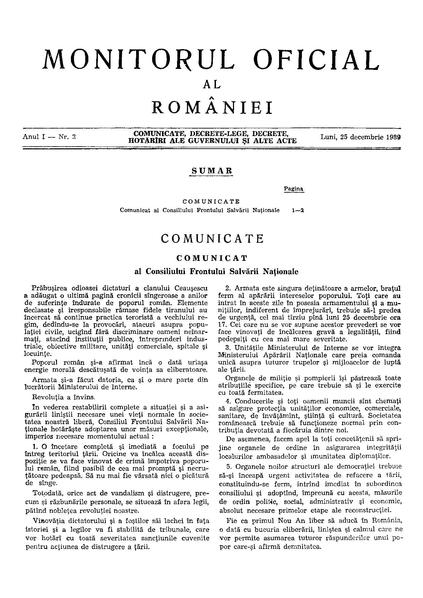 File:Monitorul Oficial al României. Partea I 1989-12-25, nr. 2.pdf