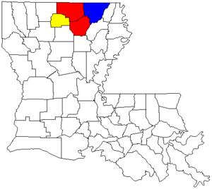 Monroe-Ruston-Bastrop Combined Statistical Area - Image: Monroe Ruston Bastrop CSA